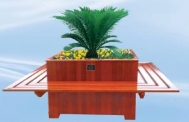 CS6-04木制花盆平凳组合